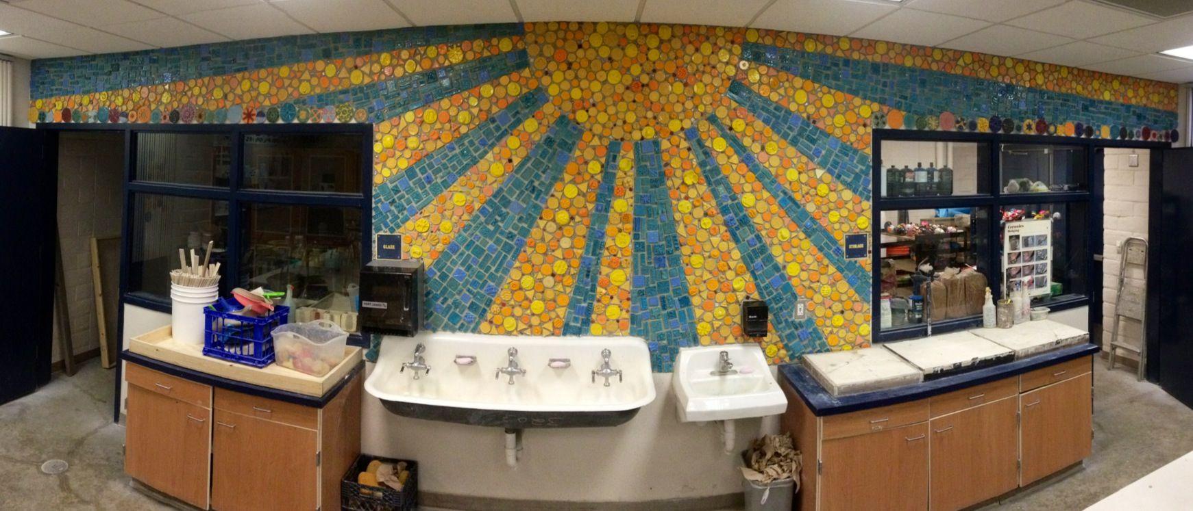 In Progress Mosaic Mural Ceramics Classroom At Sunnyside High School Fresno Ca