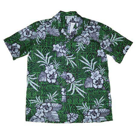 eb4ea8a7 Free Shipping. Buy Hawaiian Style shirt Aloha republic (Made in Hawaii)  Dark Green Floral (MEDIUM) W61 at Walmart.com