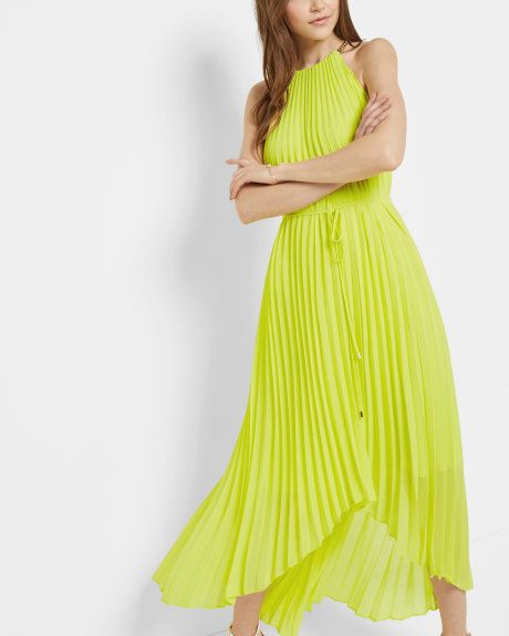 pleated dip hem maxi dress - Neon pink Ted Baker Outlet Extremely Order Online Cheap Sale Comfortable Buy Cheap Best Wholesale Buy Cheap Shop nfLZpYkcwe