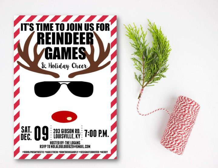 Reindeer Games Holiday Party Invitation, Christmas Party Invitation - holiday party invitation
