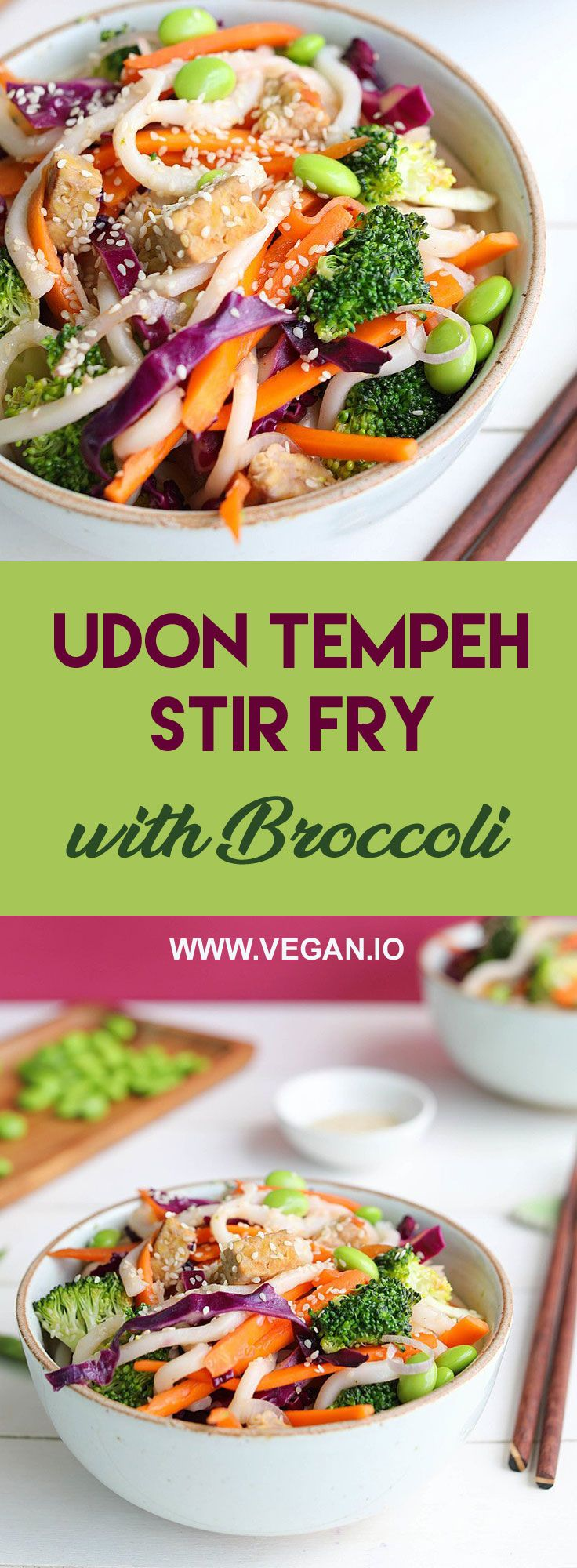 Udon Tempeh Stir Fry With Broccoli