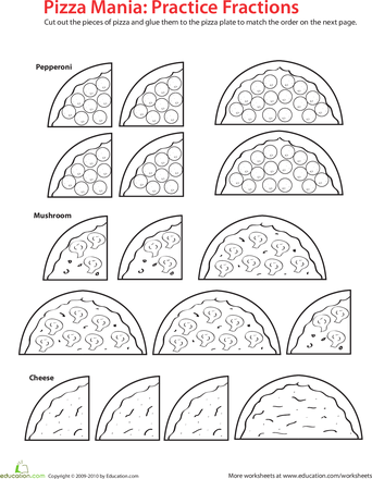 fraction math pizza time  for the music room  pinterest  math  worksheets fraction math pizza time for rhythms