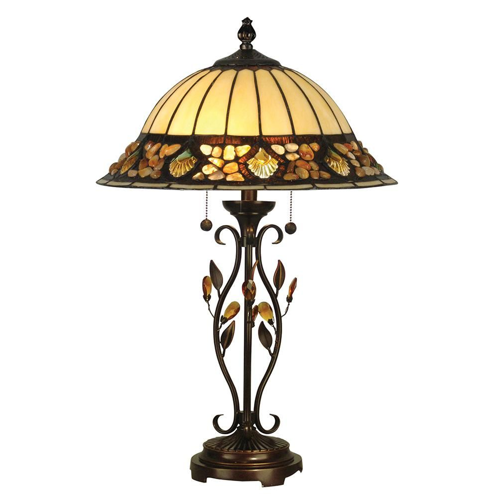 Dale Tiffany 27 In Antique Golden Sand Pebblestone Table Lamp