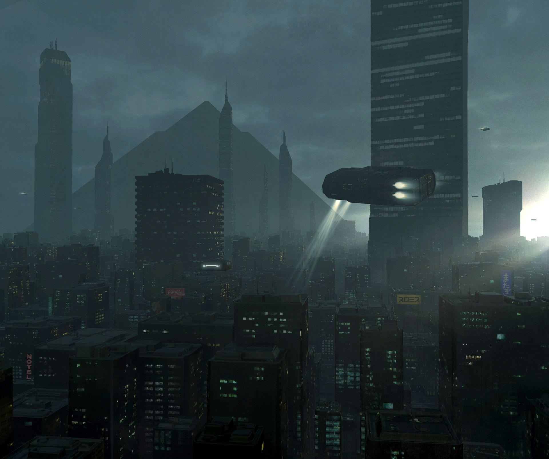 ArtStation - Near future. mosstree 2 | Science fiction artwork. Cyberpunk city. Sci fi city