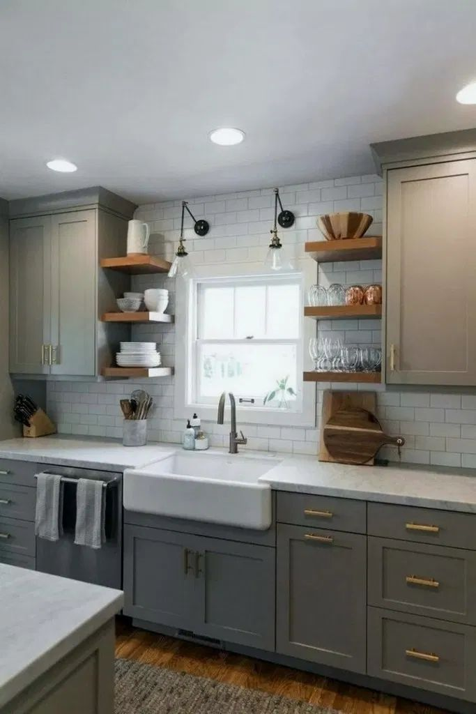 39 Modern Olive Green Kitchen Before After 31 In 2020 Kitchen Remodel Small Small Kitchen Decor Kitchen Renovation