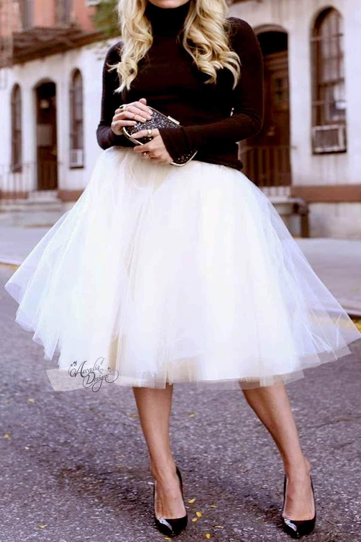 Peach Tutu Skirt Rose Gold Waist Bow Fashion White Tulle Skirt Tulle Midi Skirt [ 1800 x 1200 Pixel ]