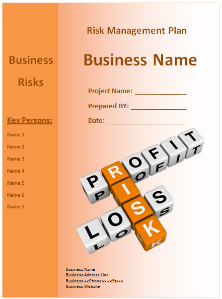 Project Proposal Template Word 13 Risk Management Plan Templates  Word Excel & Pdf Templates .