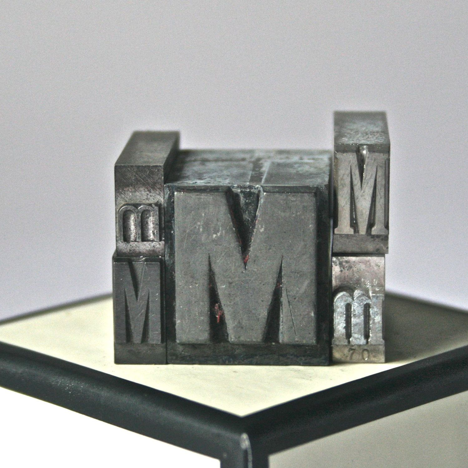 Letter M Antique Printer's Type for Collage by ReminiscencePapers