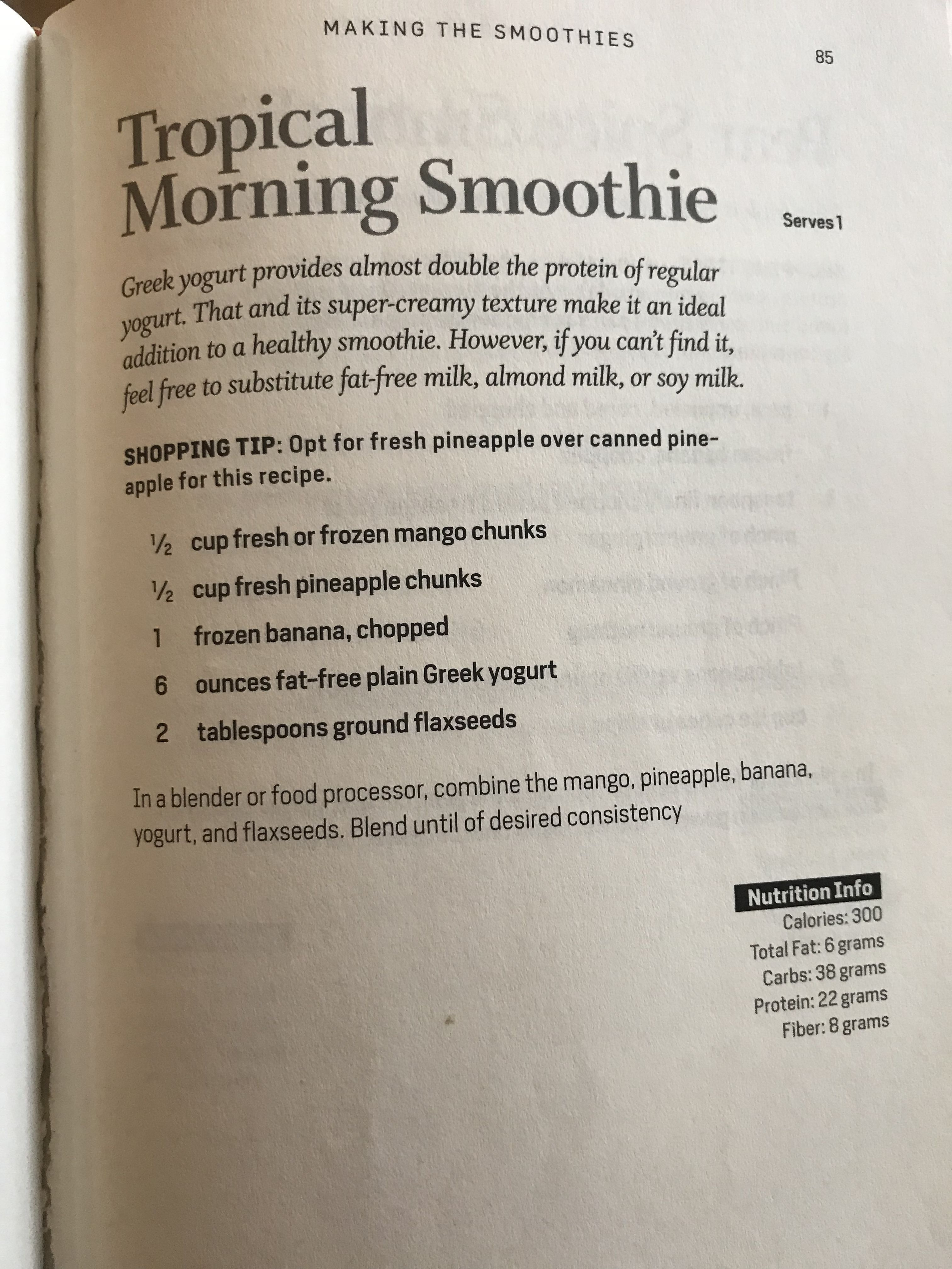 Tropical Morning Smoothie Body Reset Diet Body Reset Smoothie Diet