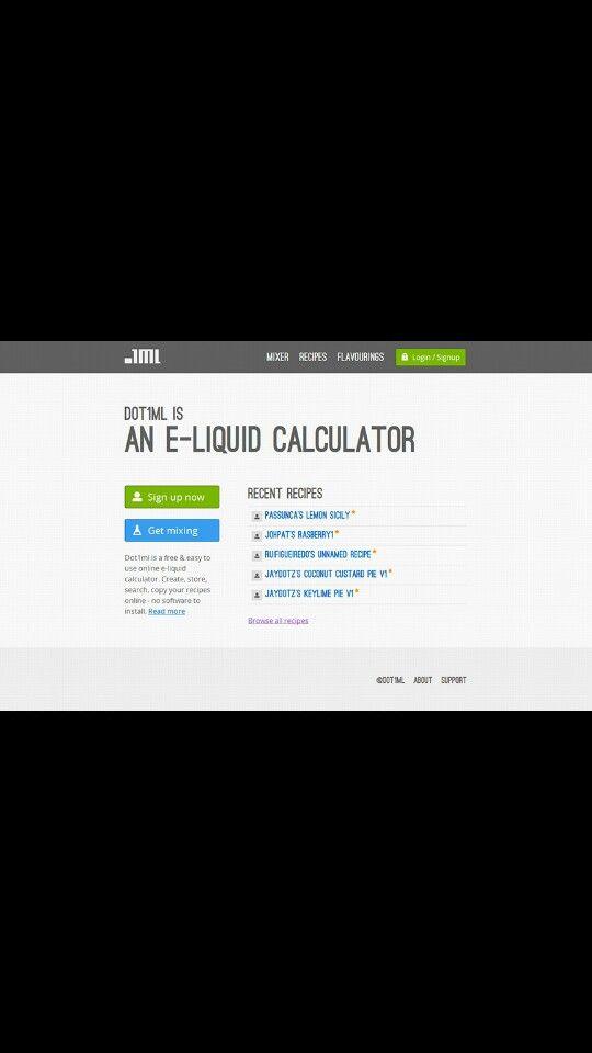 Vape Juice Calculator and Recipe Guide find it at dot1ml com