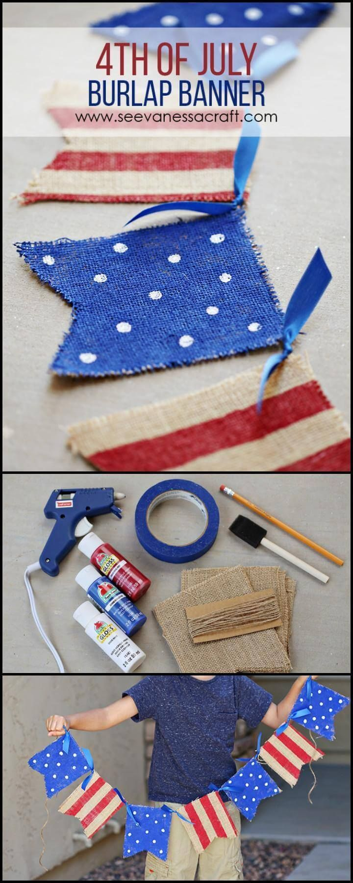 30 DIY 4th of July Decorations – Patriotic Fourth of July Projects 2018 #holidaysinjuly