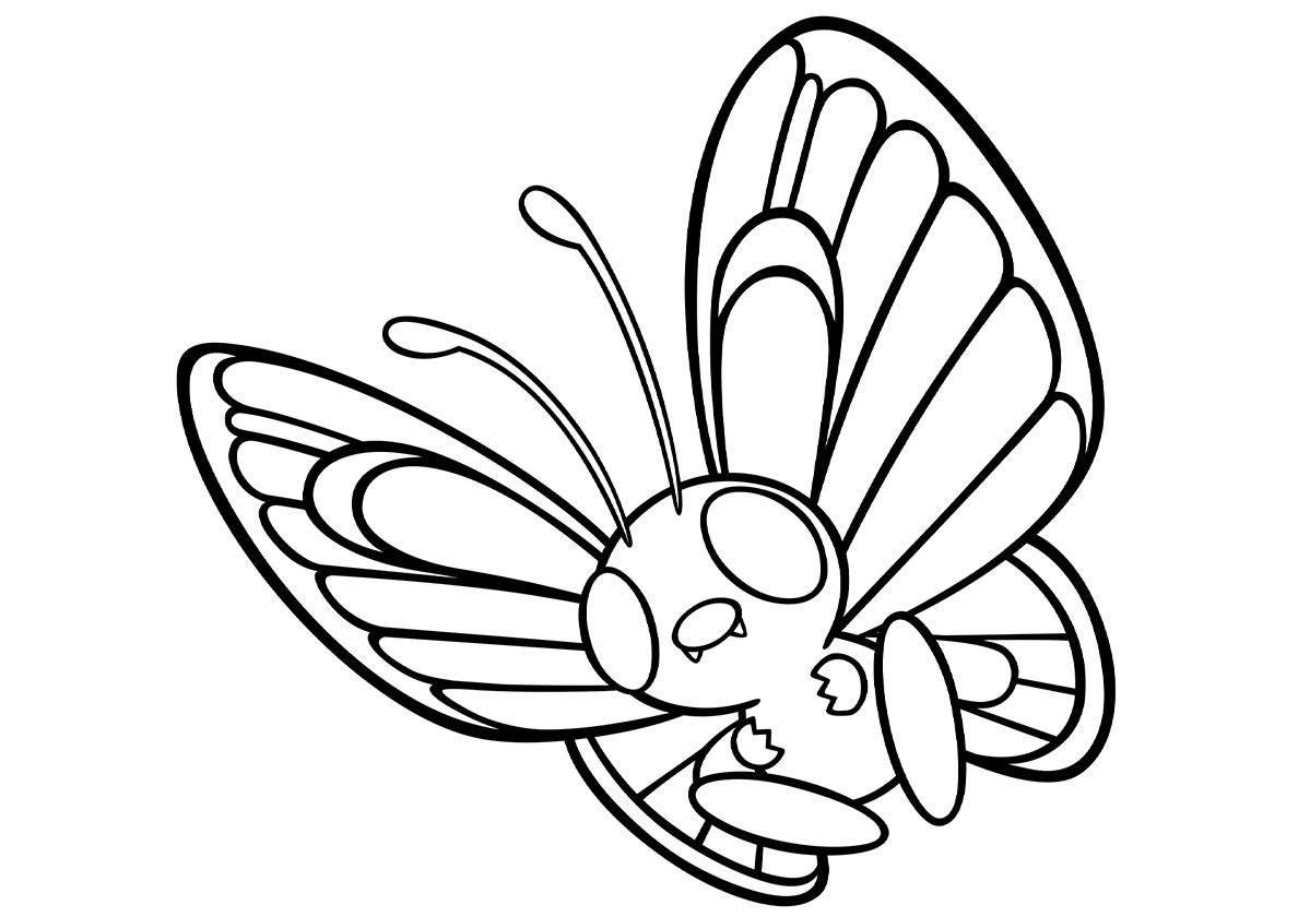 012 Butterfree High Quality Free Coloring From The Category Pokemon More Printable Pictures On Our W Pokemon Coloring Sheets Pokemon Coloring Pages Pokemon