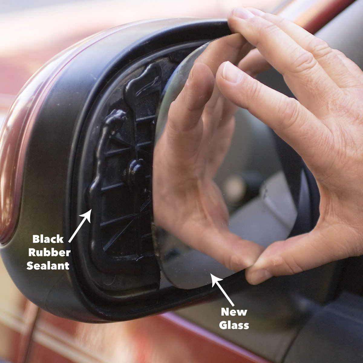 Replace Side View Mirror Glass Auto repair, Repair, Side