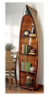 Canoe Shelf Is Awesome Boat Shelf Decor Decor Bookcase