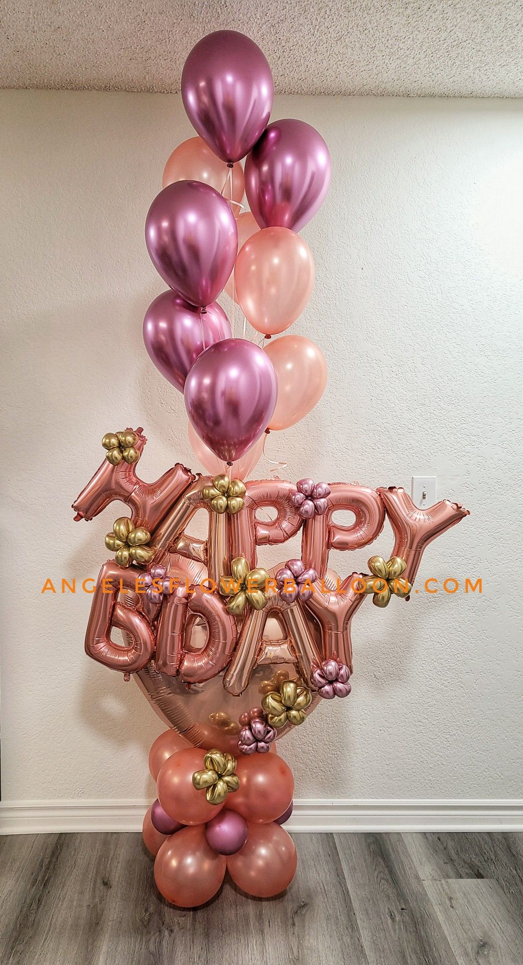 Design bouquet in 2020 birthday bouquet balloon flowers