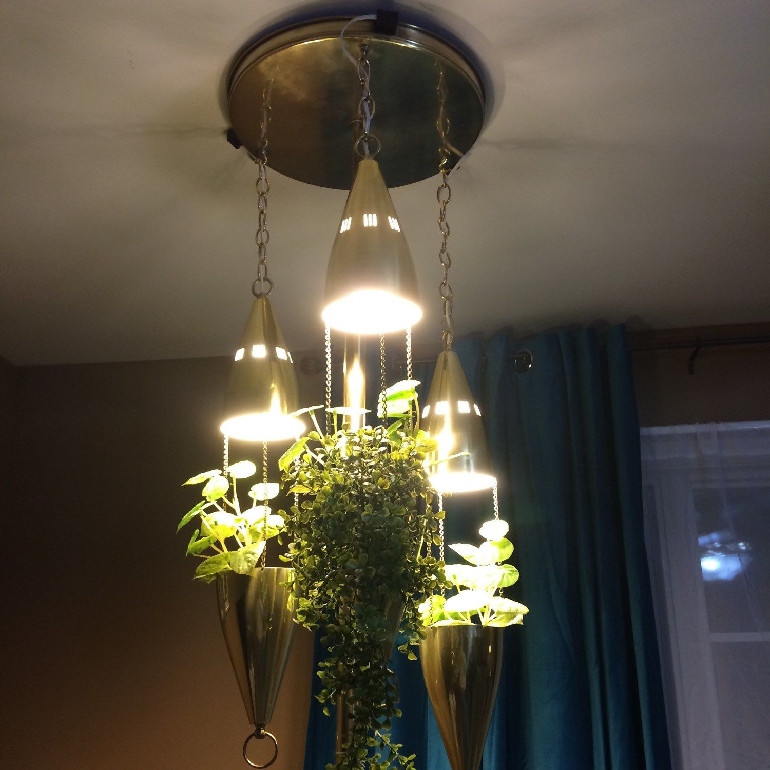 small resolution of the most amazing tension pole lamp you will ever see brass finish polished new wiring and sockets new switch hanging lights feature bullet planter and