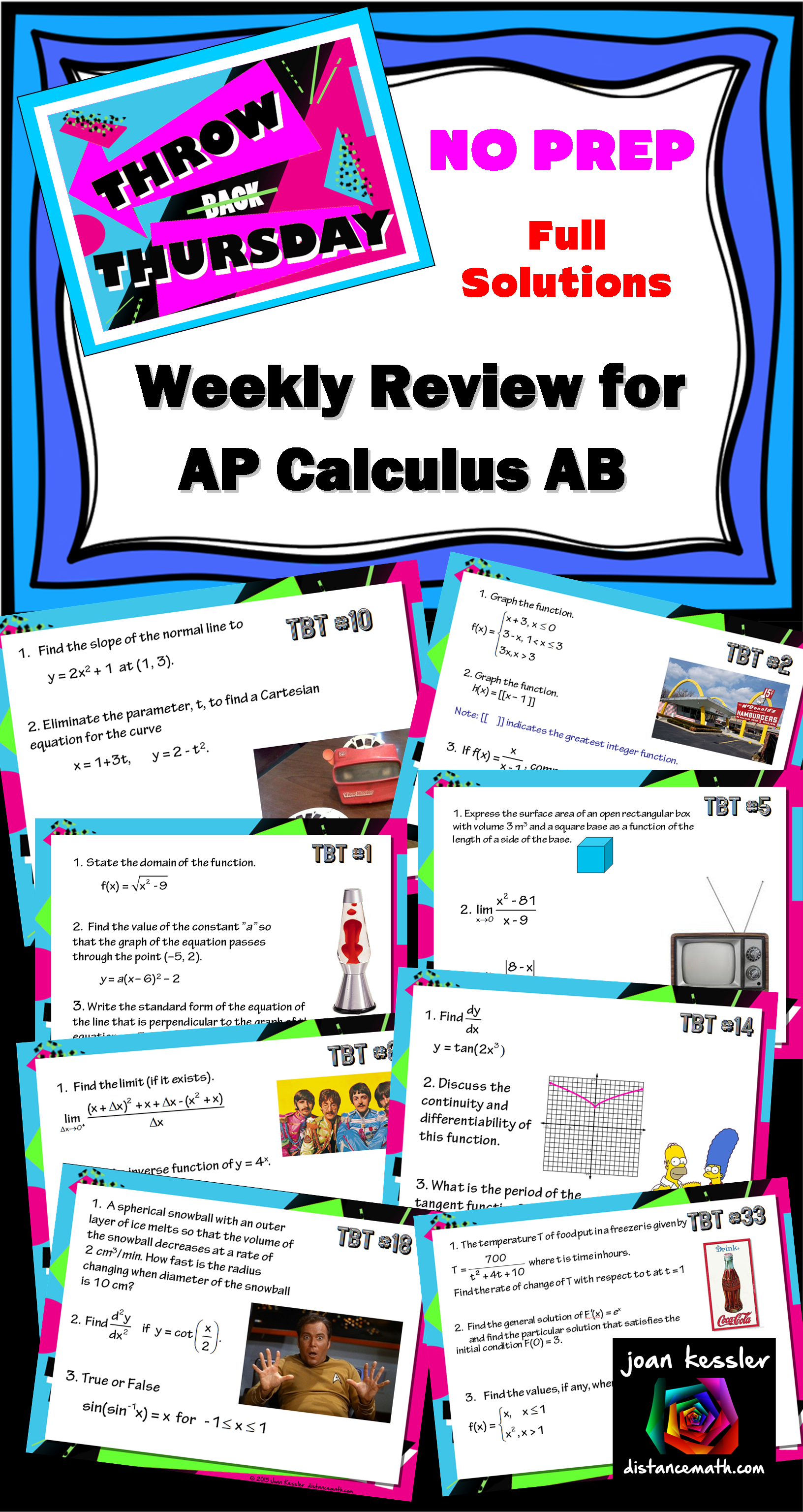 Calculus Weekly Review Fun Theme Whole Year Calculus Pinterest