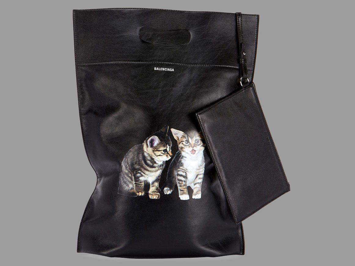 Would You Carry A 1300 Leather Plastic Bag With Kittens On It Purseblog Leather Bags Leather Shops