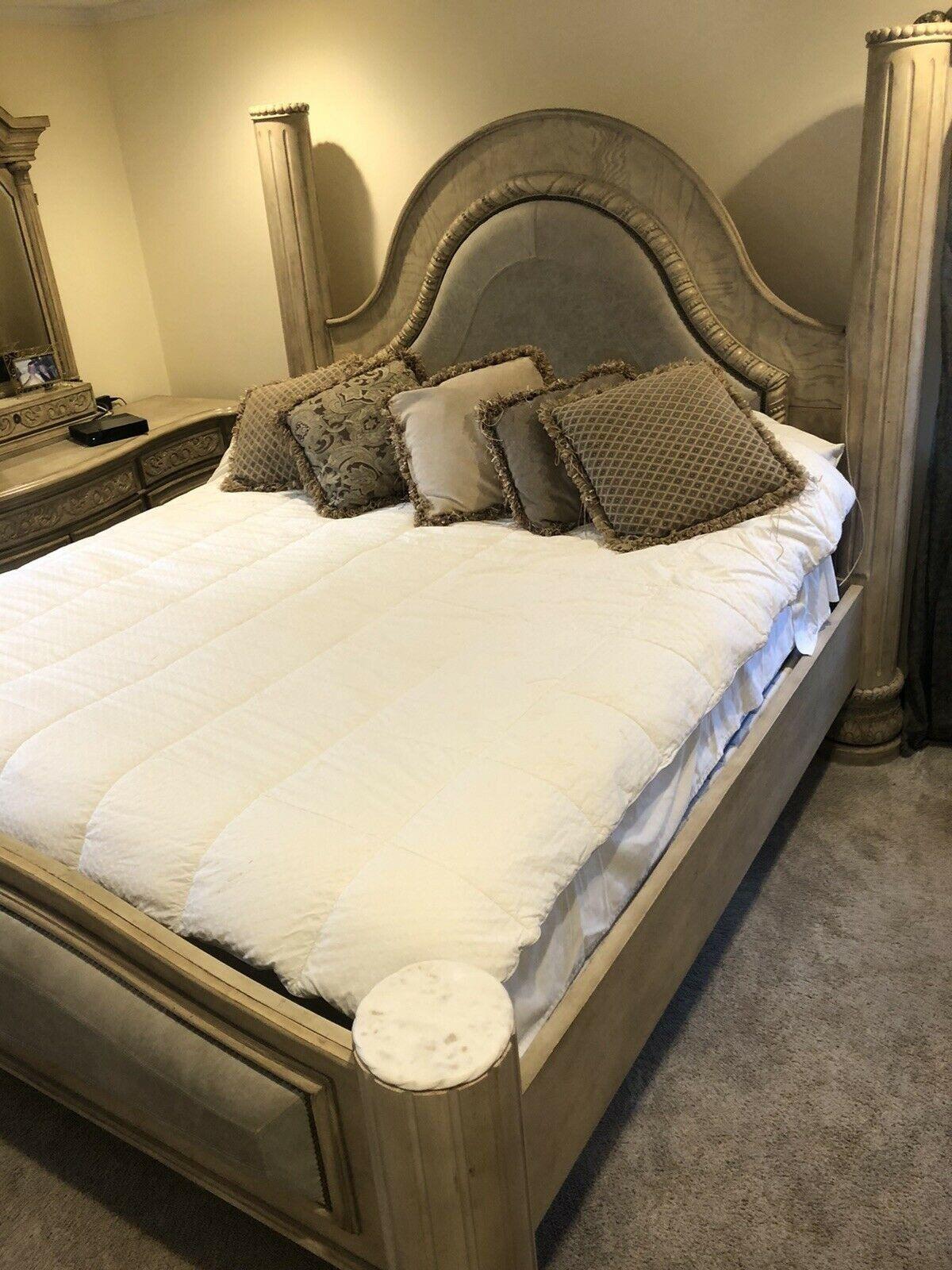 Used King Bedroom Set 6 Piece Marble Top King Italian Bedroom Set King Bedroom Sets King Bedroom King Size Bedroom Furniture Sets