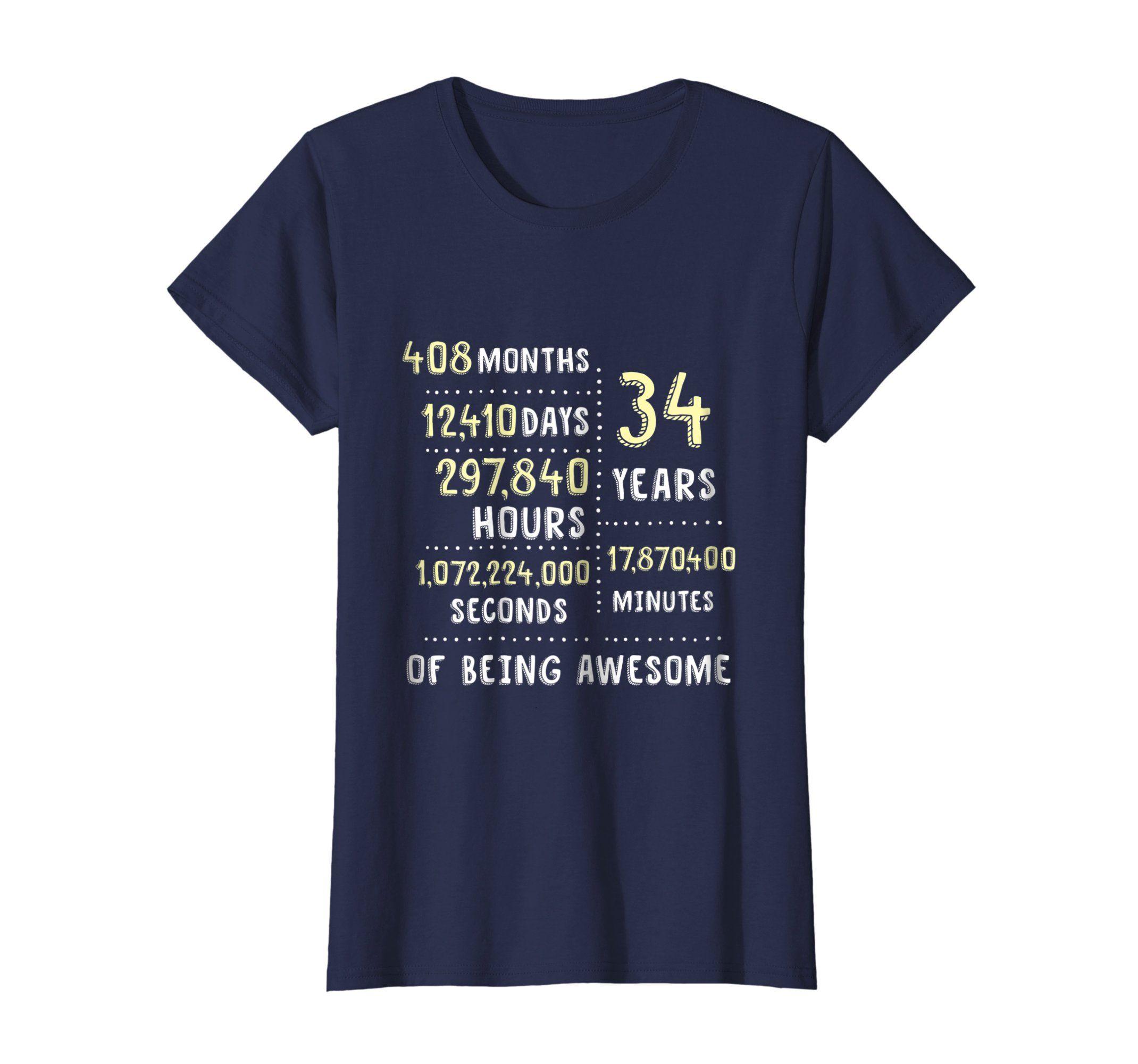 Gift for 34th Birthday for Women 34th Birthday tshirt Sassy Classy Fabulous 34 Sassy 34th Birthday Gift for Women 34th Birthday Gift