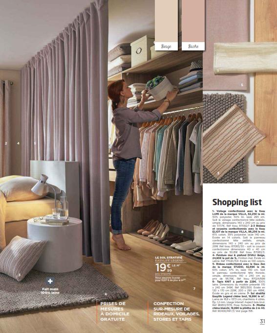 saint maclou 2016 1 voilage r alis avec le tissu lumi. Black Bedroom Furniture Sets. Home Design Ideas