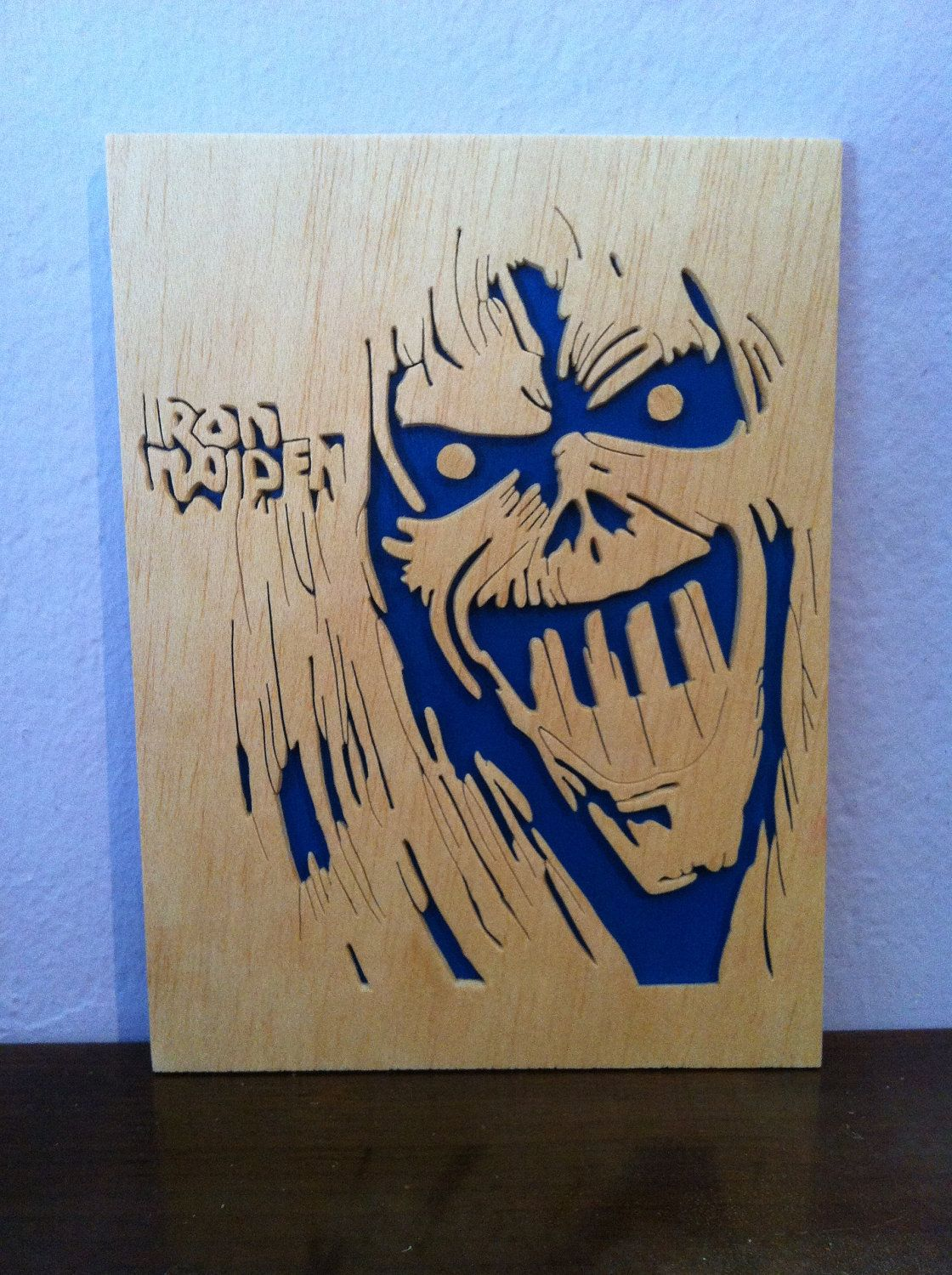 Iron Maiden Wooden Picture Scroll Saw 8 99 Scroll Saw