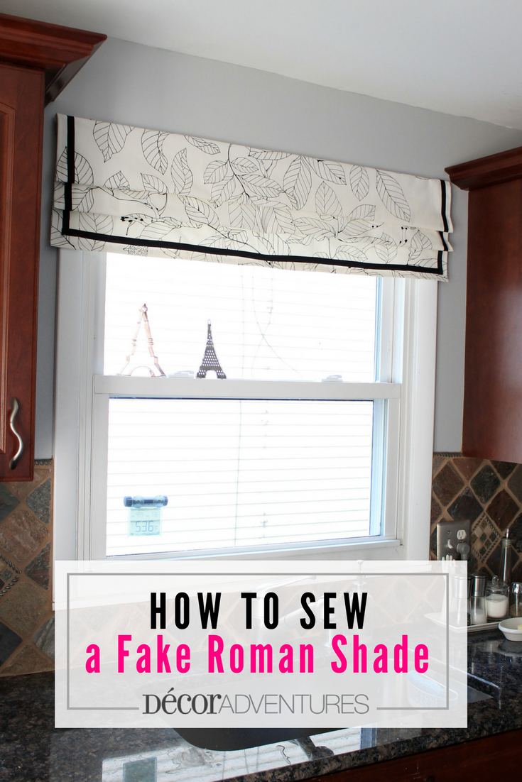 How to sew a roman shade easy roman shade fake roman shade valance