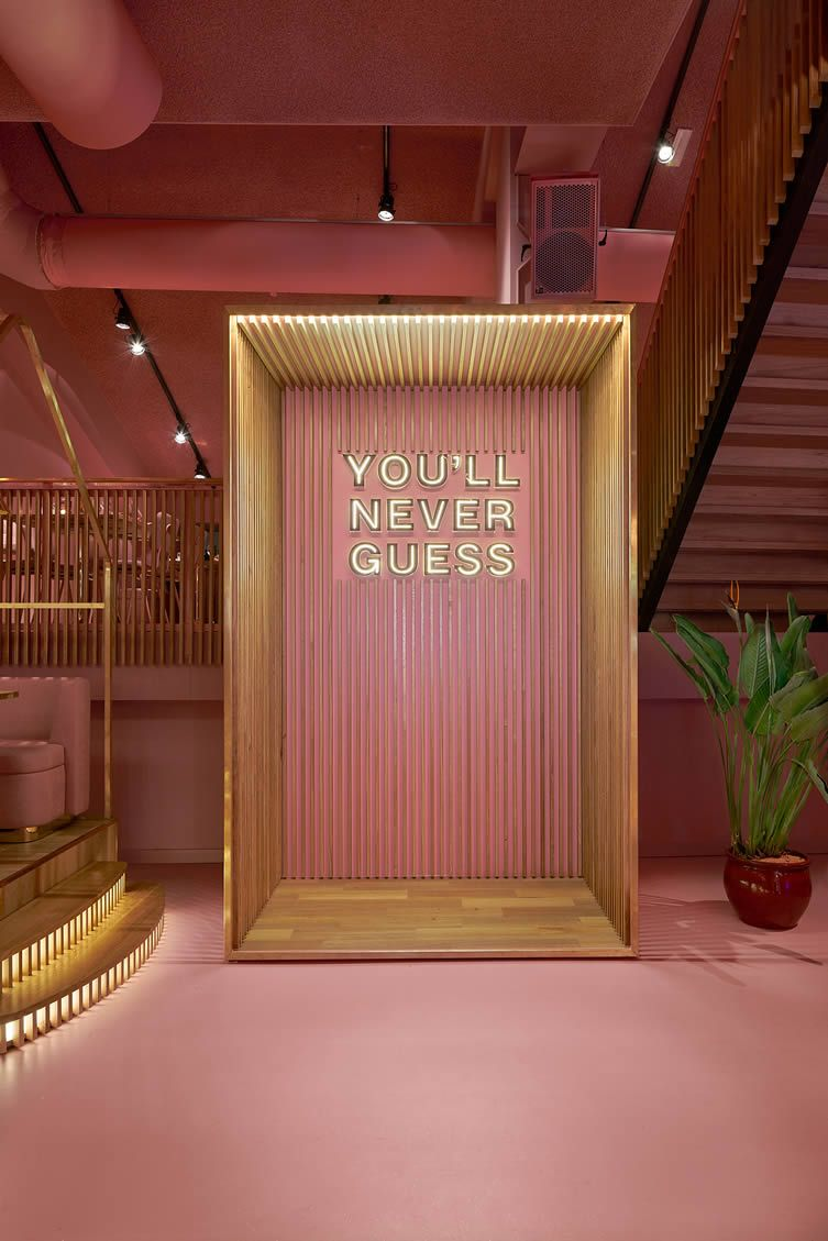 Dining Choices Might Be Sparse At Amsterdam S Brilliant Mama Kelly But Its Purposely Kitschy Interiors Are Not Workspace Design Corporate Office Design Home Interior Design