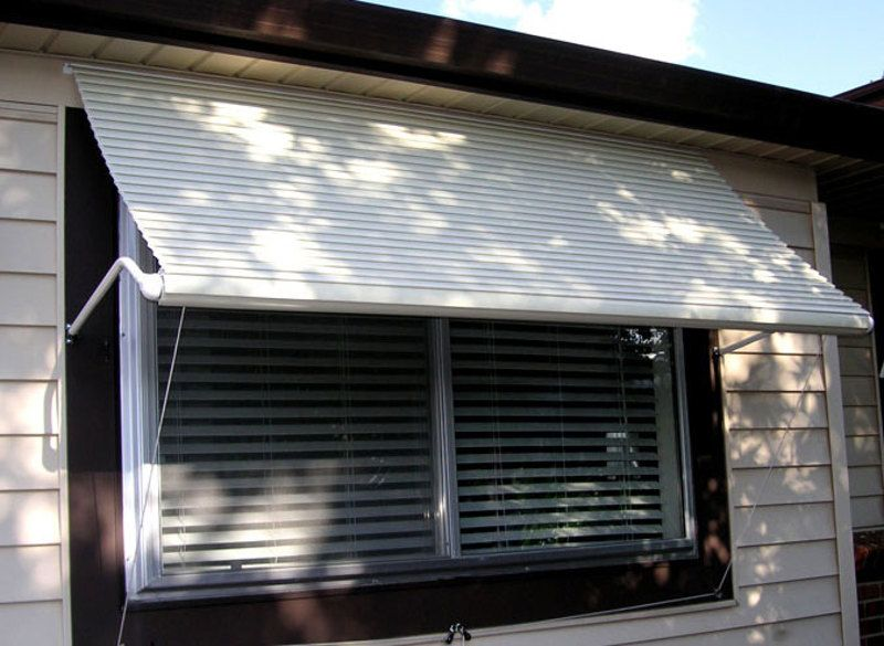 5500 Series Roll Up Window Awning Window Awnings Aluminum Window Awnings Residential Awnings