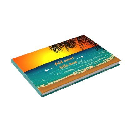Summer Beach Sunset Art Guest Book  Summer Gifts Season Diy