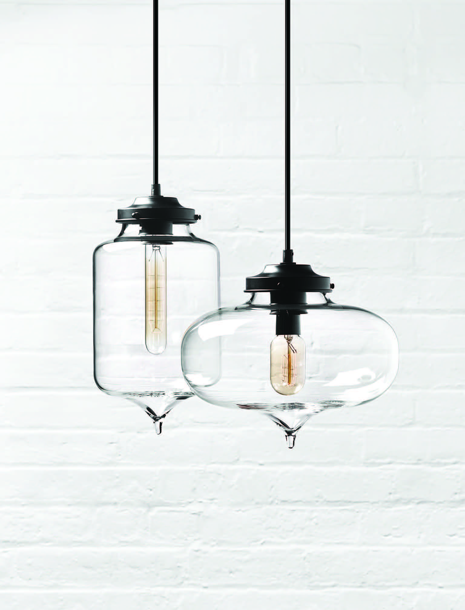 Handblown Glass Pendants By Niche Modern All Made With Love In Beacon New York Shop The Collection On Niche Modern Handblown Glass Pendant Hand Blown Glass