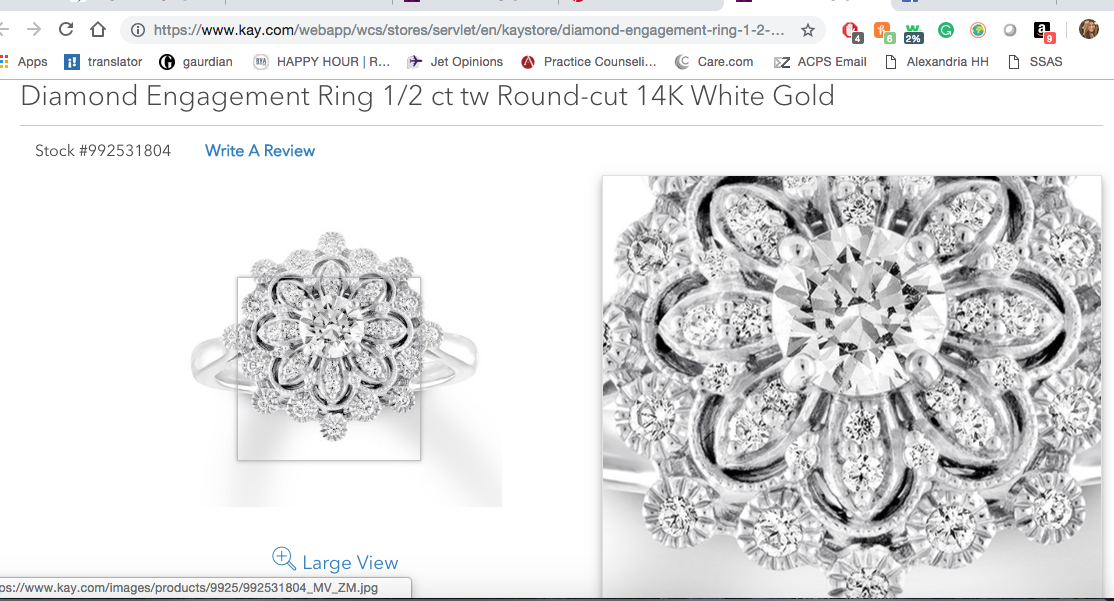 Floral Ring White Gold Rings Engagement Diamond Engagement