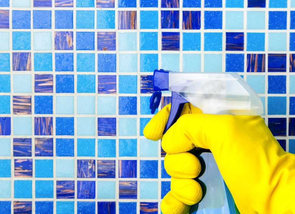how long for grout to dry before showering