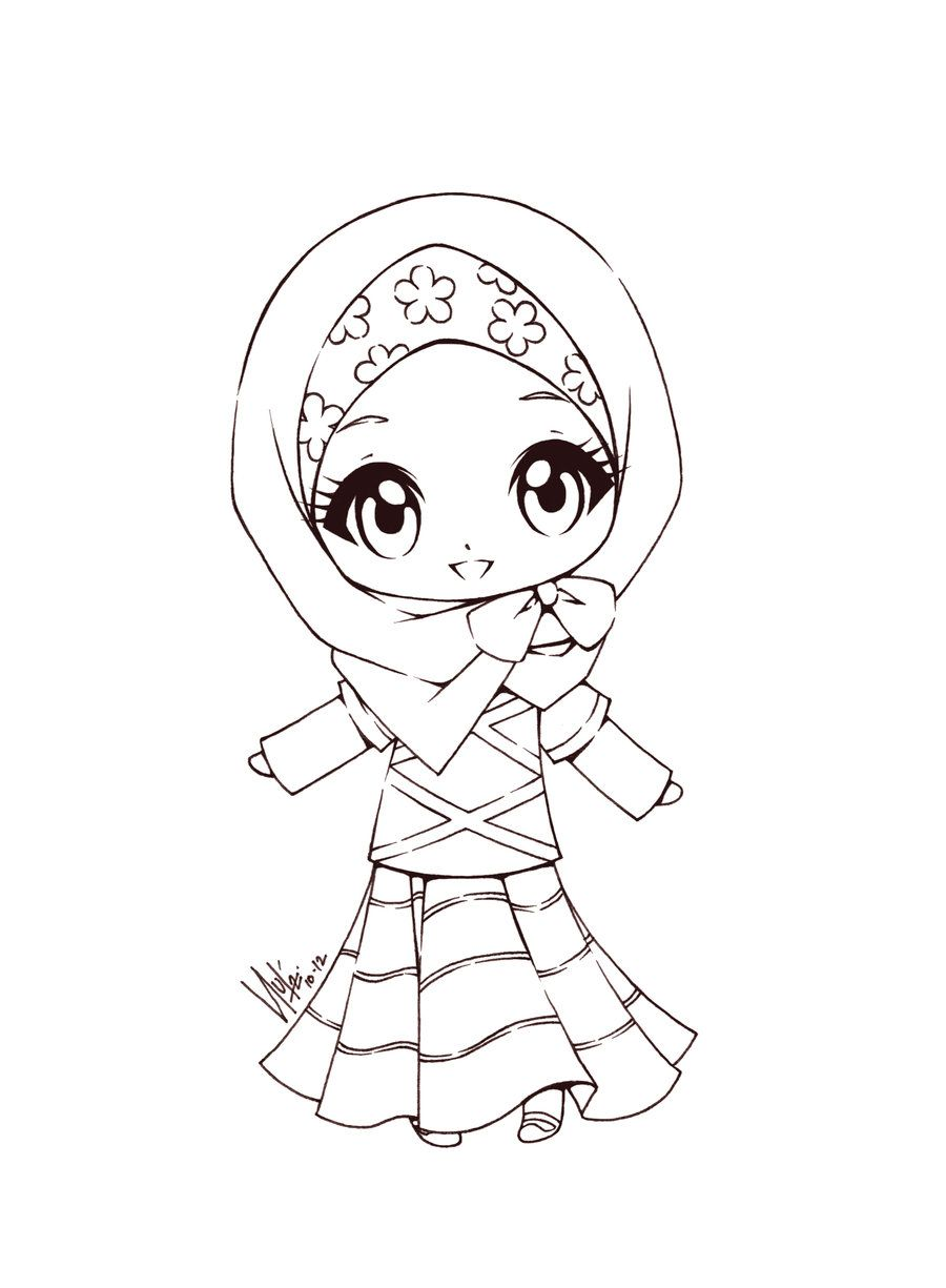 Free Coloring Pages Download Miss Cutie By Sureya Deviantart On Za Digi Of Muslim