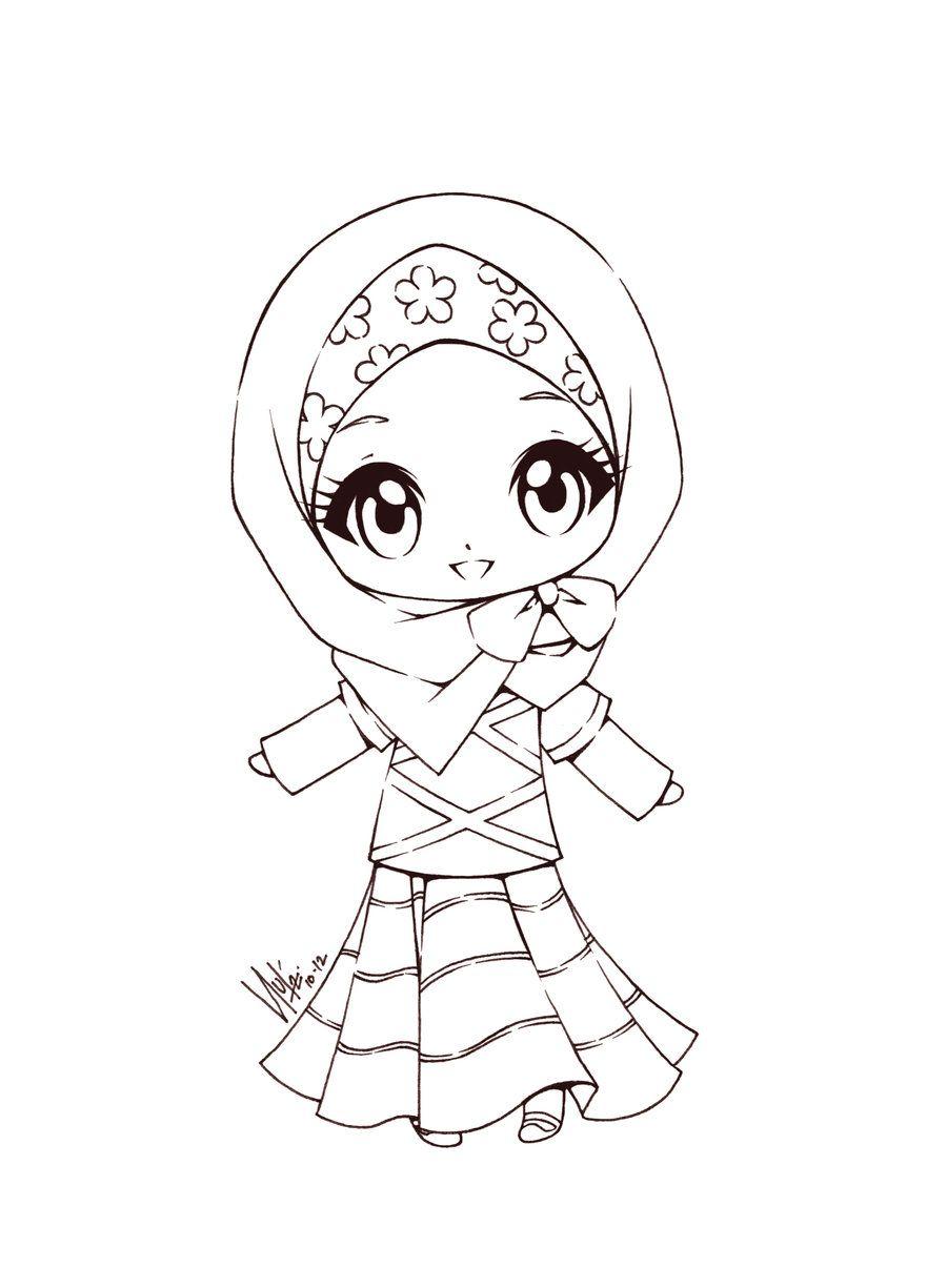 Cute Little Muslimah | ramadan | Pinterest | Stamps, Digi stamps and ...