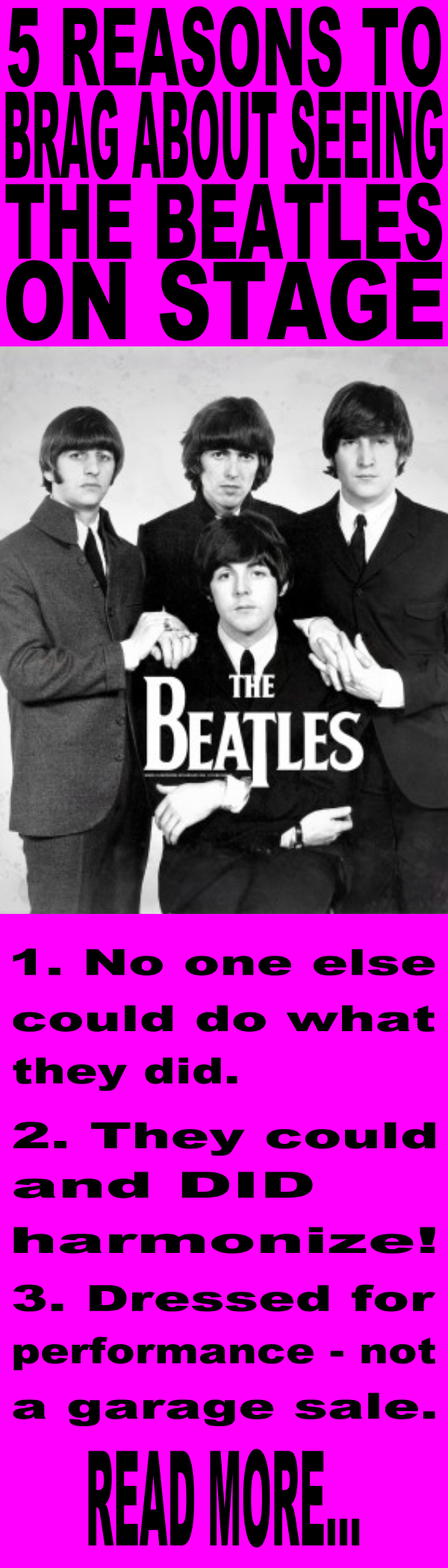 5 reasons to brag about seeing the beatles on stage  https://getcustomproducts.com