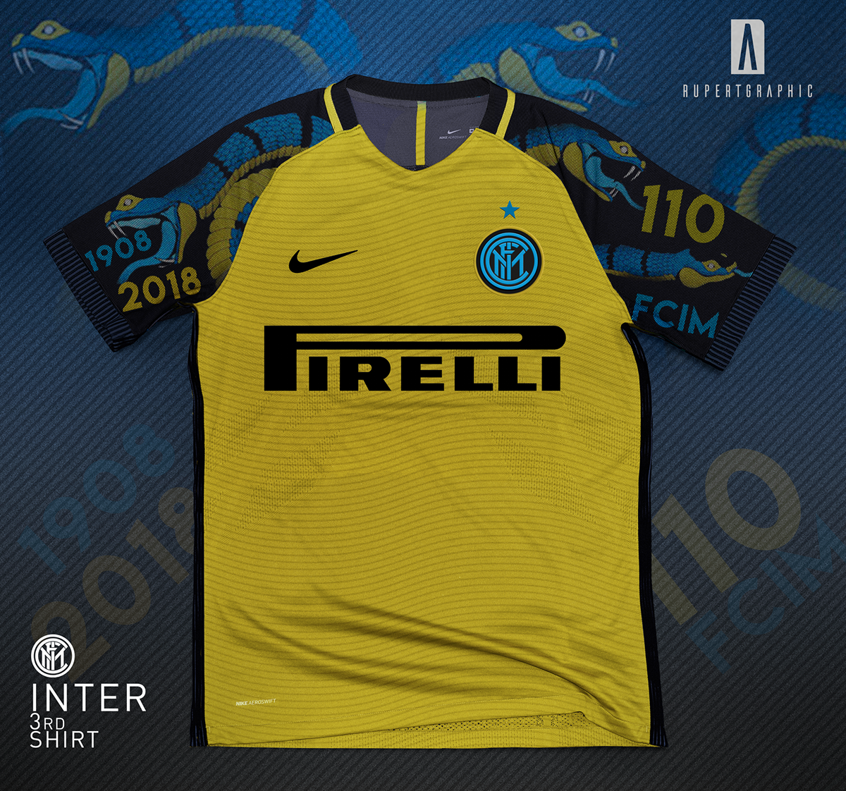 big sale 994de 24e20 Inter 3rd Shirt | Yellow snake Concept on Behance | แบบเสื้อ ...