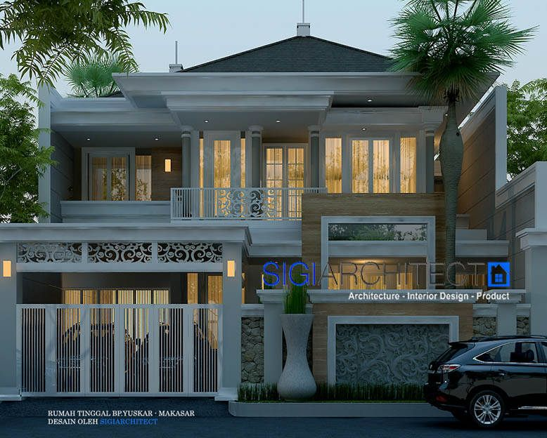 Rumah Klasik Modern 2 Lantai Desain Rumah 2 Lantai Dengan Model