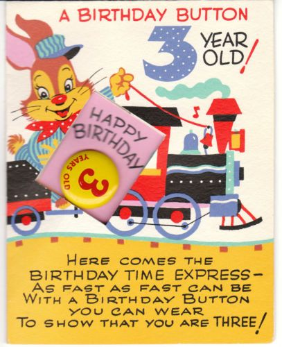 Vintage Birthday Cards For Children By Birdhouse In Your Soul