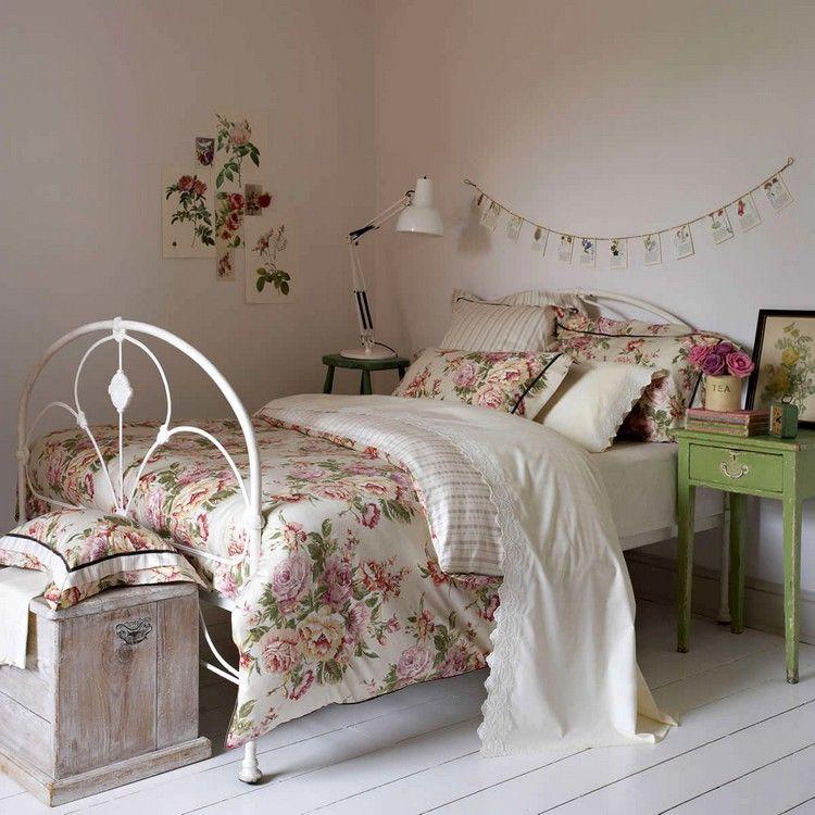 einrichtungsidee für ein schlafzimmer im shabby style | shabby chic