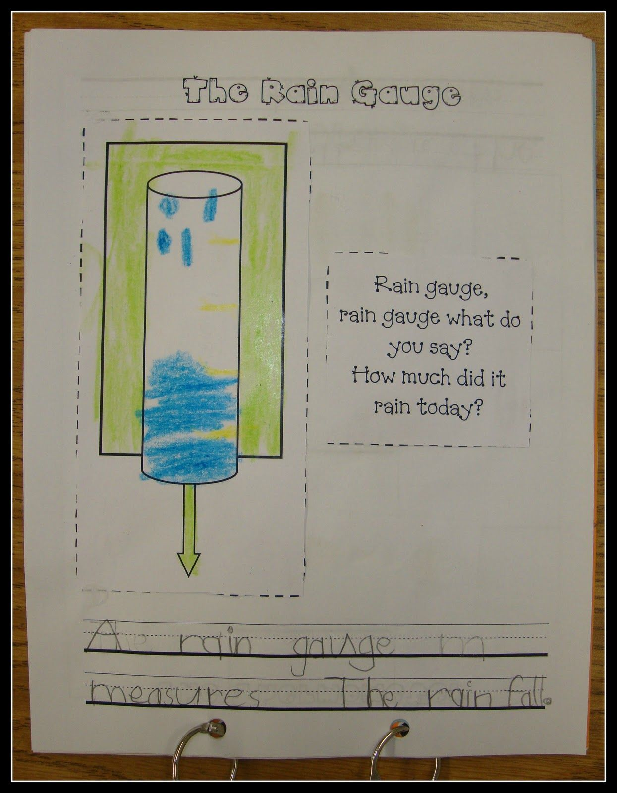 Today In First Grade Weather Tools Reproducible