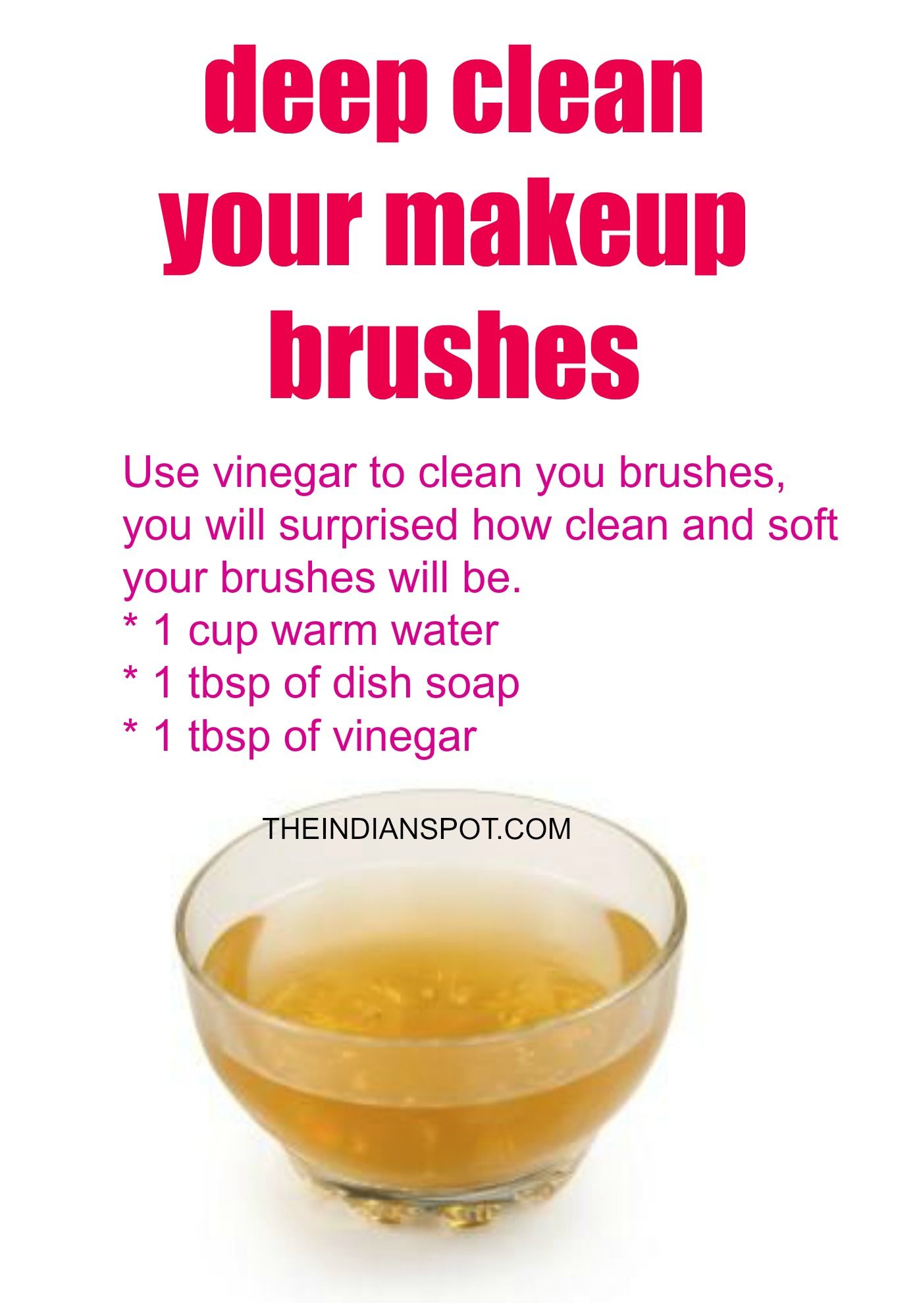 Vinegar Makeup Brush Cleaner To Deep Clean Your Brushes Best