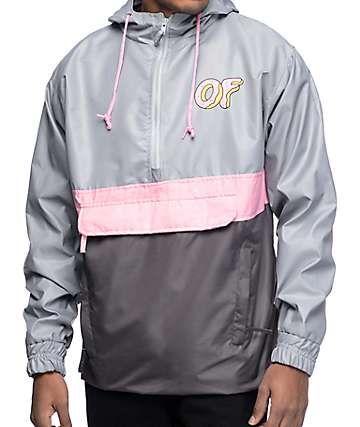 82288ef081a0 Odd Future OF Grey   Pink Anorak Jacket