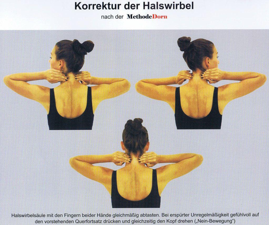 Korrektur der Halswirbel nach der Methode Dorn   Sport   Pinterest ...