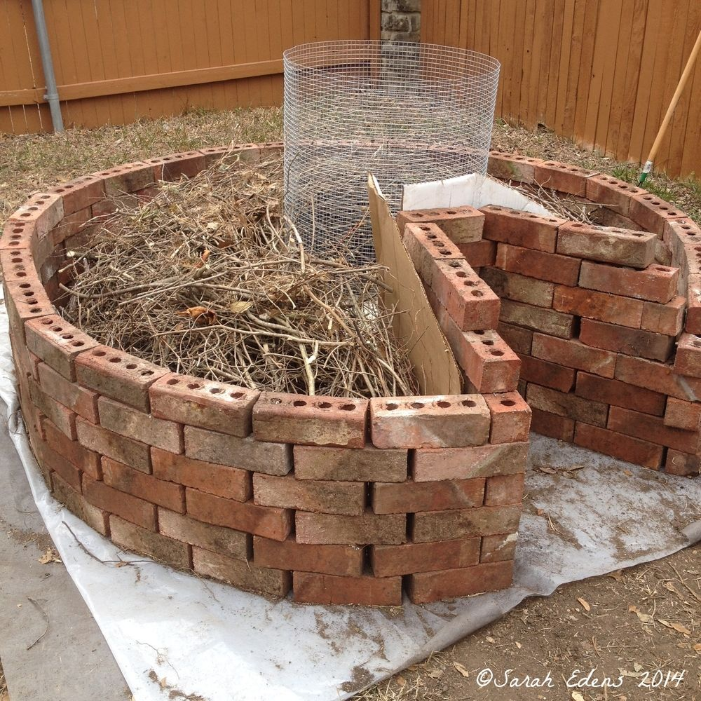 Getting there! Our keyhole garden under construction: http://www ...