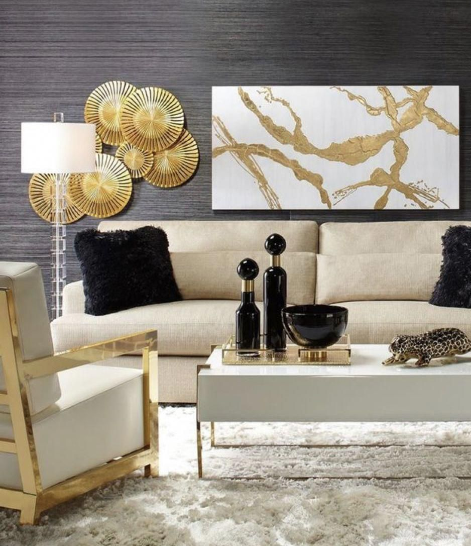 #Home #Decor / 25+ Ways To Use White Black and Gold In You ...