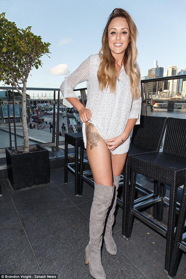 cf807cb1561 Geordie Shore s Charlotte Crosby launched her brand new clothing line -  caled Nostalgia - at Sydney Harbour on Tuesday morning