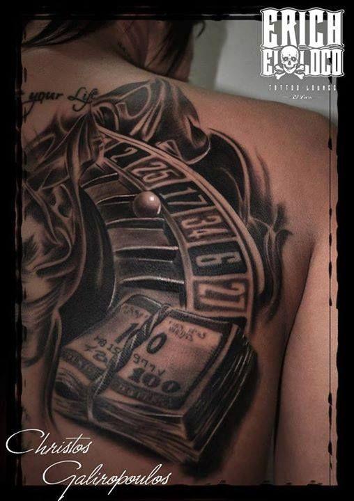 Tattoo Casino Roulett Linz Permanent Guest Artist Christos