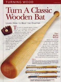 515 Turning A Baseball Bat Woodturning Wood Turning Wood Turning Lathe Wood Turning Projects