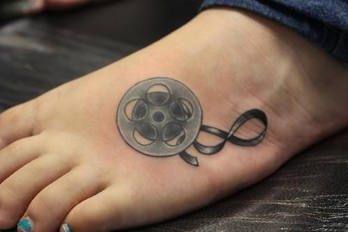 My Very First Tattoo A Film Reel Going Into An Infinity Symbol I